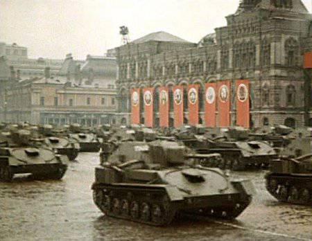 Цветные фотографии парада победы 1945