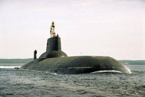 Атомная подводная лодка с баллистическими ракетами Проект 941 «Акула»(NATO -Typhon)