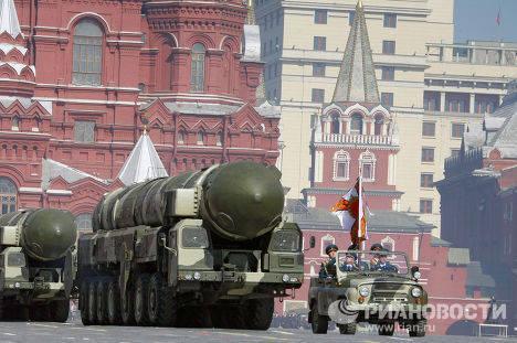 """Мобильная межконтинентальная ракета """"Тополь"""""""
