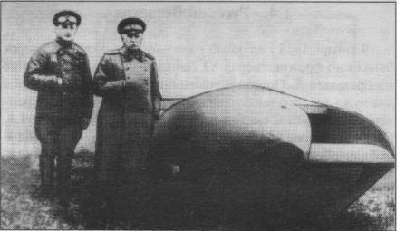 The first Russian tanks