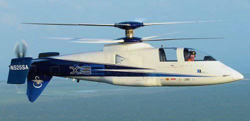 Sikorsky X2 устанавливает новый рекорд скорости среди вертолётов