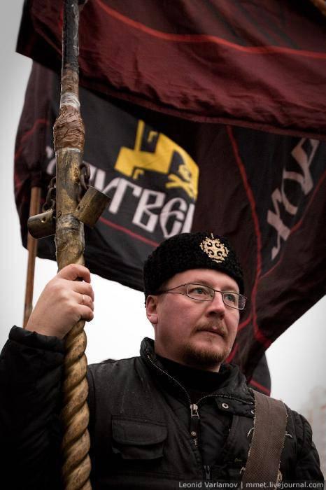 """La """"marcha rusa"""" de nacionalistas atrajo a jubilados y militares."""