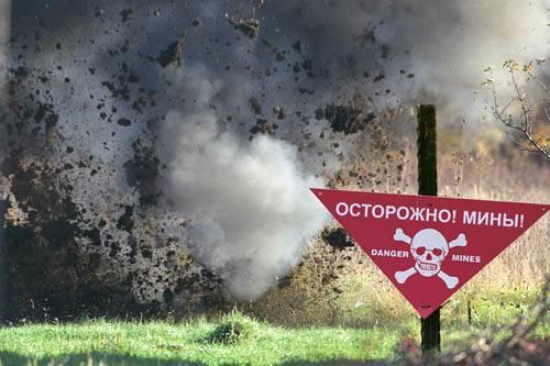 La mina de bala es esencialmente una pistola de un solo disparo excavada en el hocico del suelo