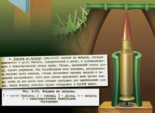 Пулевая мина – это, по сути, однозарядный пистолет, врытый в землю дулом вверх