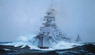 "The death of the battleship ""Bismarck"""