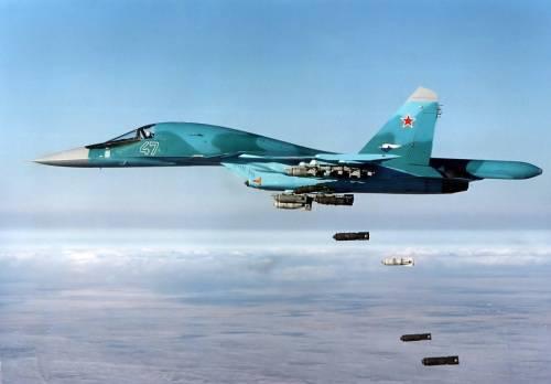 Обои, Бомбы из Су 34, Истребитель, Небо, Бомбы...