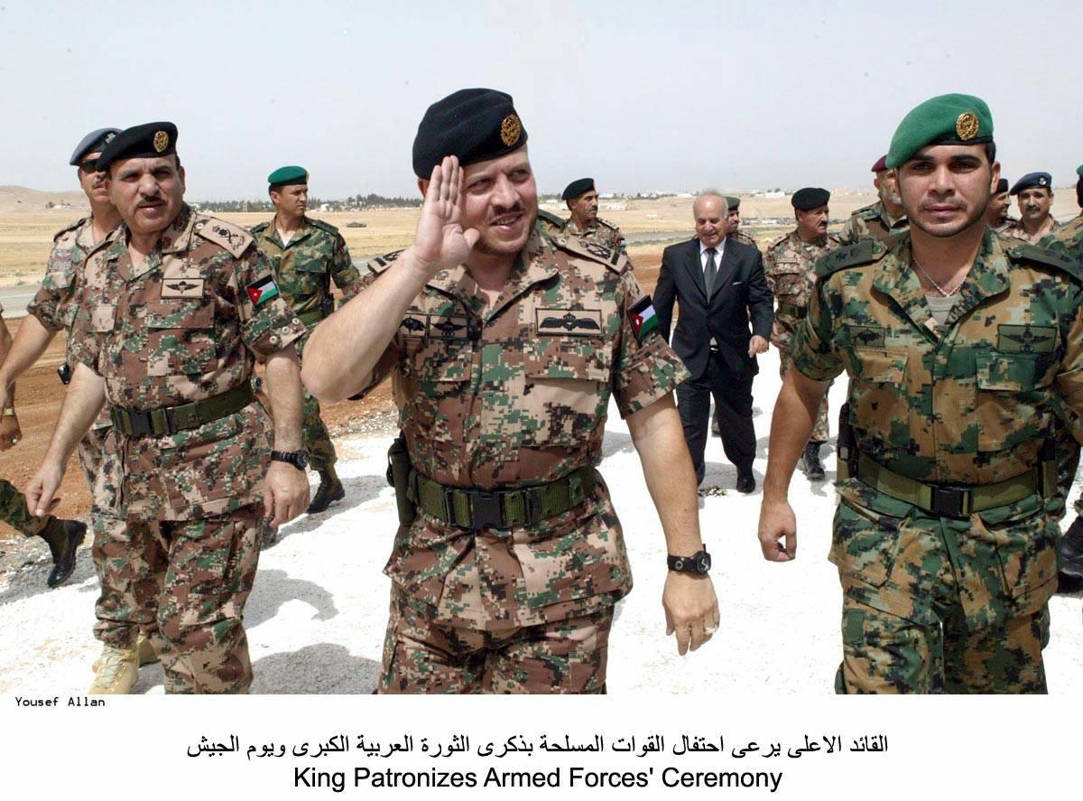 Jordan King Abdullah II Bin Al-Hussein Bin Talal's Army Route