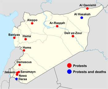 सीरिया को दूसरी चेतावनी मिली