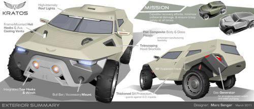 展望未来。 美国陆军汽车DARPA