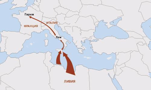 Armee M. Gaddafi bereitet Landung in Sizilien vor