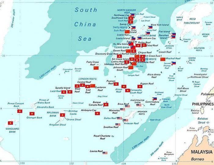 Острова Спратли - зона возможного военного конфликта в  Юго-Восточной Азии