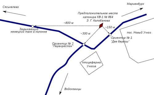 Колобанов отдал приказ радисту доложить о появлении танковой колонны немцев, а сам просматривал.