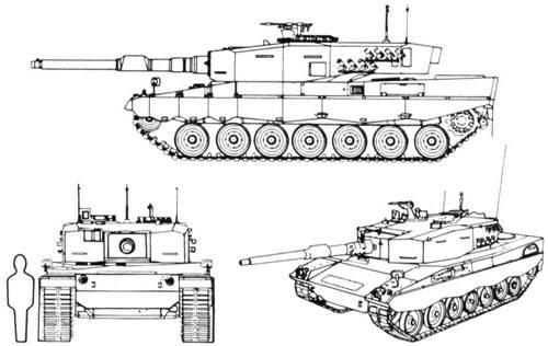 Batı ana savaş tankları (2'in bir parçası) - Leopard-2