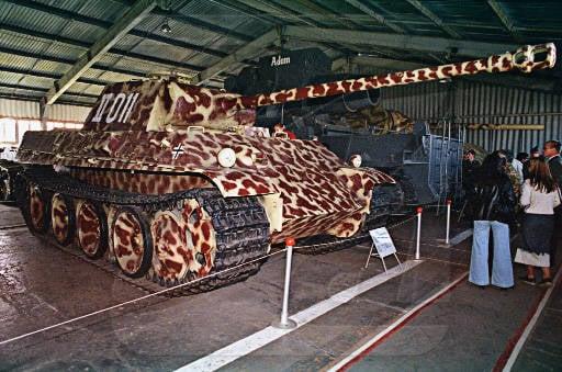 Немецкий танк т vg пантера в музее