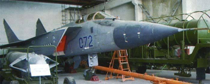 MiG-31D - airborne anti-satellite missile program