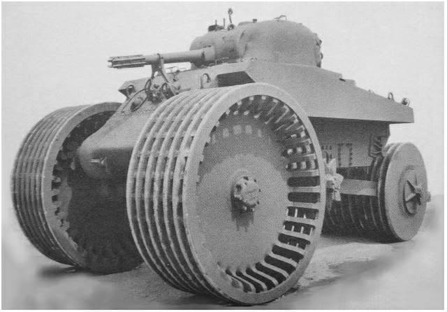 Mine patinoire. T10 Sherman M4A2