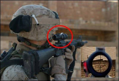 Created a sight that allows soldiers to hit the target with sniper accuracy