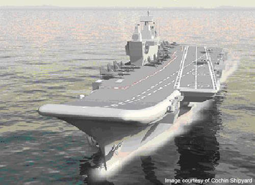The first national Indian aircraft carrier will be launched at the end of the year.