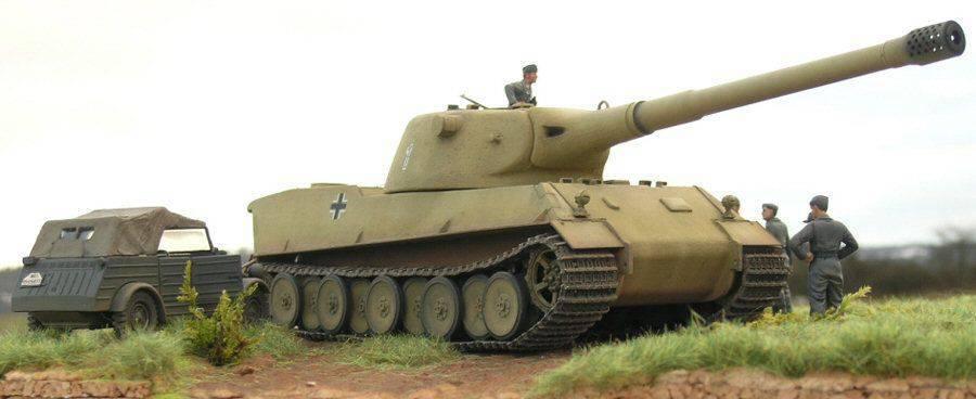 Сверхтяжёлый танк Panzerkampfwagen VII Lowe (Лев) .