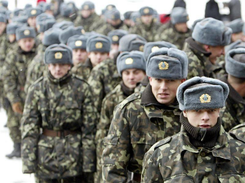 Киевлян забирают в армию