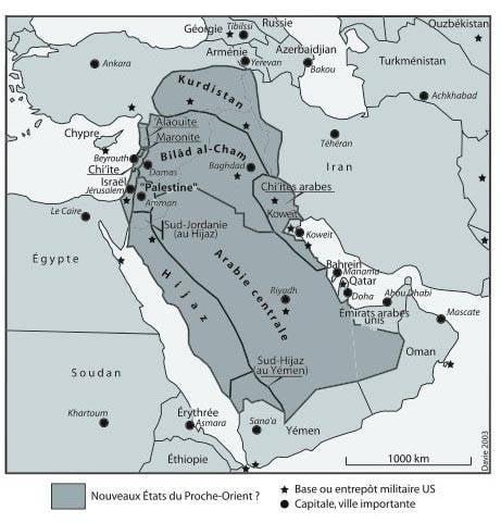 Планы перекройки политической карты Ближнего Востока и  Исламского мира