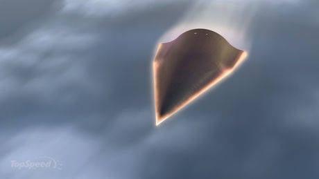 高超音速飞机坠入大海