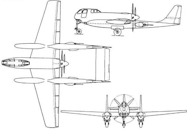 Схема самолета Ш-218 М-251