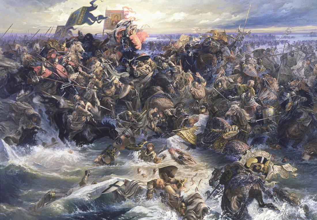 Воодушевлённые успехами новгородцы вторглись на земли Ливонского ордена, разоряя поселения эстов, которые были...
