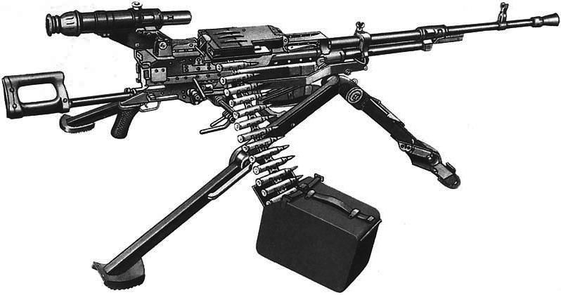 из ленты в пулемете (съем