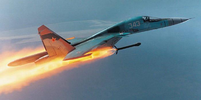 Фронтовой бомбардировщик Су-34 с двигателями АЛ-31Ф