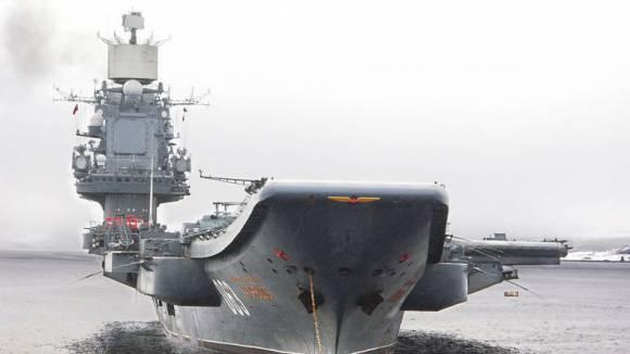 "Руския крайцер ""Адмирал Кузнецов"""