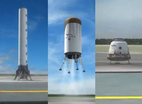 O primeiro veículo de lançamento reutilizável do mundo pretende criar na empresa «SpaceX»