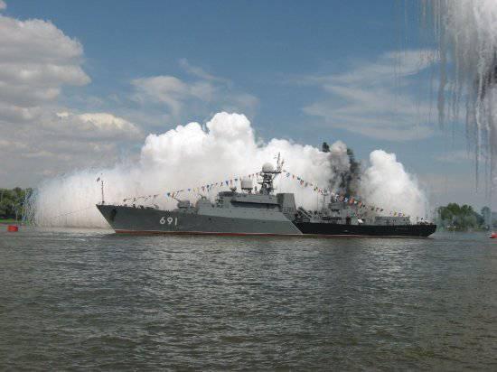 "Tests of the frigate ""Dagestan"" built in Zelenodolsk"