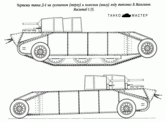 Необычные танки Росcии и СССР. Танк Дыренкова ДР-4