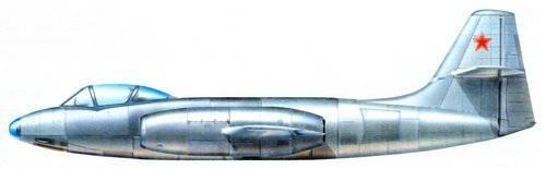 Transformer Alekseeva. AND-211, 215, 216. Fighters OKB-21 Alekseev. THE USSR. 1947-48