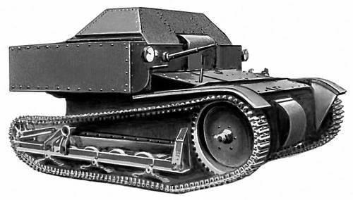 俄罗斯和苏联的不寻常的坦克。 PPG-1,1940楔形