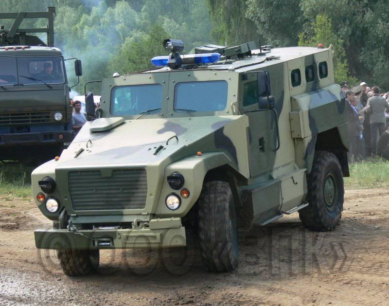 Tiger-2011А和SPM-6 Medved将在INTERPOLITEX-3上展出