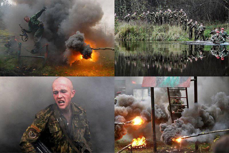 Belarus Özel Kuvvetleri bataklık seçimleriyle ilgili sınava girdi