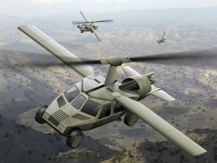 New phase of the development of flying armored cars
