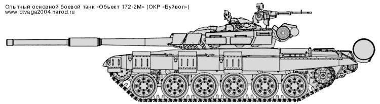 """Tanque de batalla principal experimentado """"Objeto 172-2M"""" (OCD """"Buffalo"""")"""