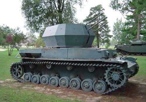 ZSU sur la base de chars
