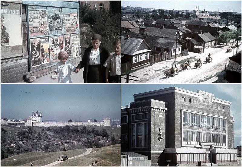 La vita quotidiana degli Smolensk occupati a colori