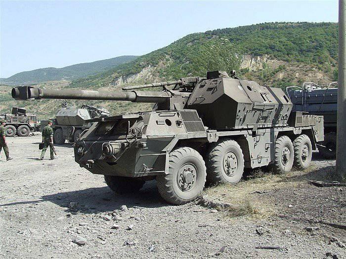 Arma autopropulsada howitzer vz.77 Dana