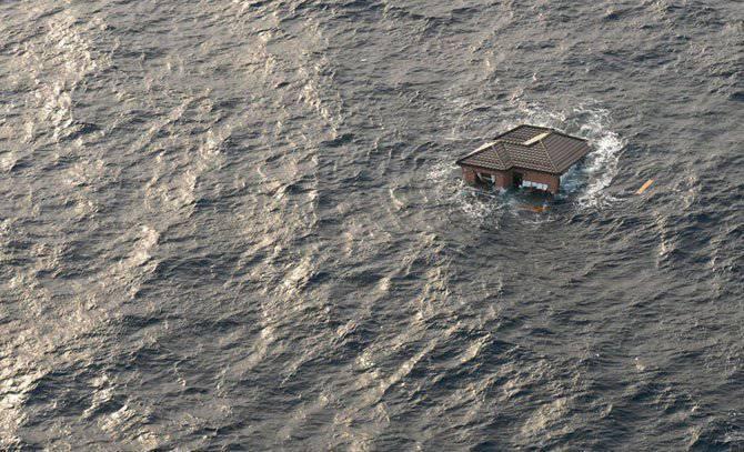 Прибрежных водах возле сендая япония