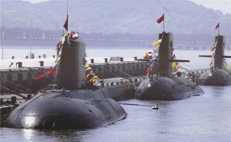 Нынешний подводный флот Поднебесной