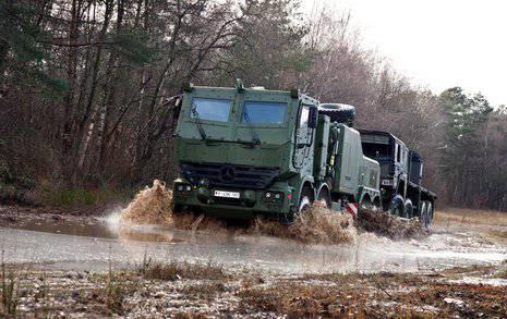 L'Allemagne achète des camions blindés lourds 12 Mercedes-Benz Actros