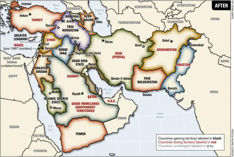 Перекраивание карты Ближнего Востока как путь к мировому господству