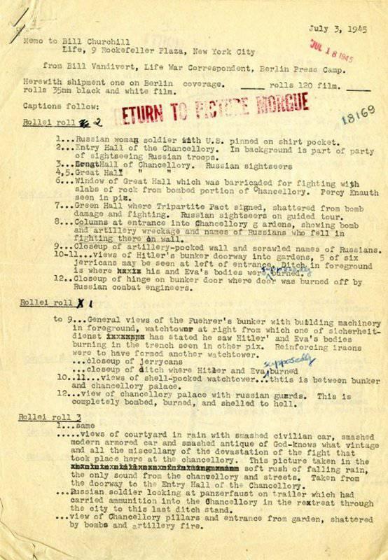 अप्रैल 1945 में हिटलर का बंकर