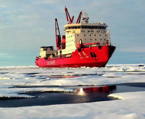 उत्तरी समुद्री मार्ग पर चीनी माल