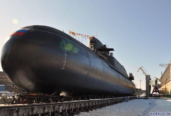 """原子潜艇"""" Verkhoturye""""的地面修复工作已经完成。"""